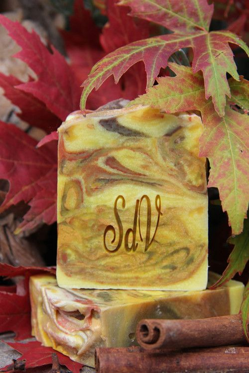 Colorful Autumn- natural handmade design soap