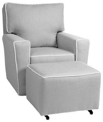little castle monaco ii glider pebble grey wwhite piping a great nursing - Nursing Chair