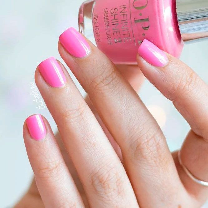 Elegant Pure Pink Nails #simplenaildesign #shorrtnails ★ There is so much more to pink and white nails than you have ev…