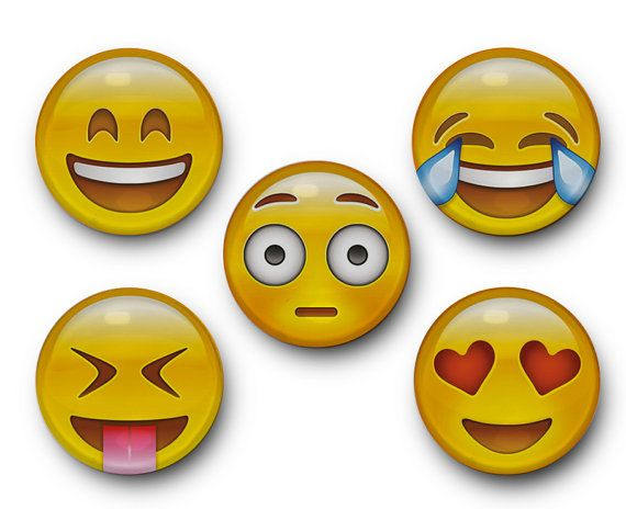 Émoticônes Emoji verre aimants smiley face visage par TreeSawCrafts