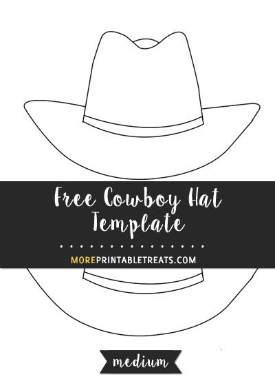 Free Cowboy Hat Template - Medium