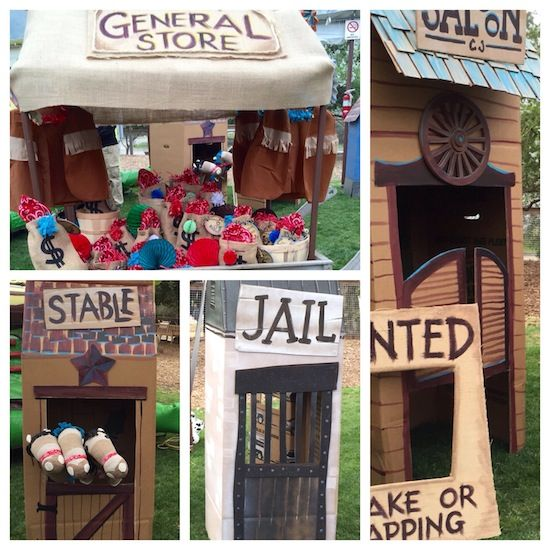 Cardboard Western Town #decor #pretend #westernparty