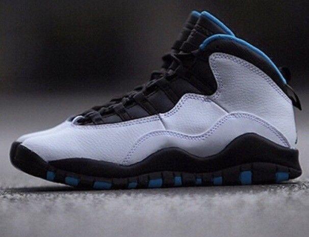Black Jordans powder blue 10s