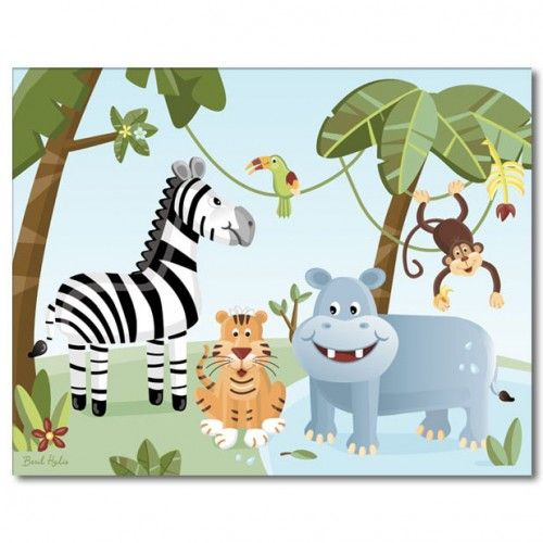 Safari Wall Art for Nursery   Nursery Wall Art Print Safari Jungle Animals