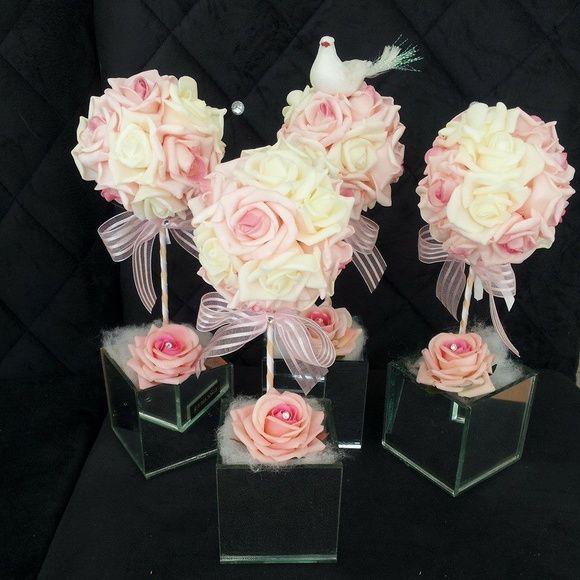 Aparador Antiguo Pintado ~ Arranjo com flores artificiais EVA e vaso em mdf Ideias para arranjos Pinterest Ems