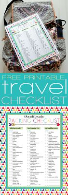 Free Printable Ultimate Packing Checklist   Perfect for travel packing   Three designs   Instant Downloads