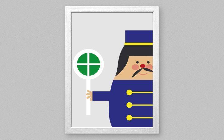 Bild Trains - Designer Tapeten DecorPlay