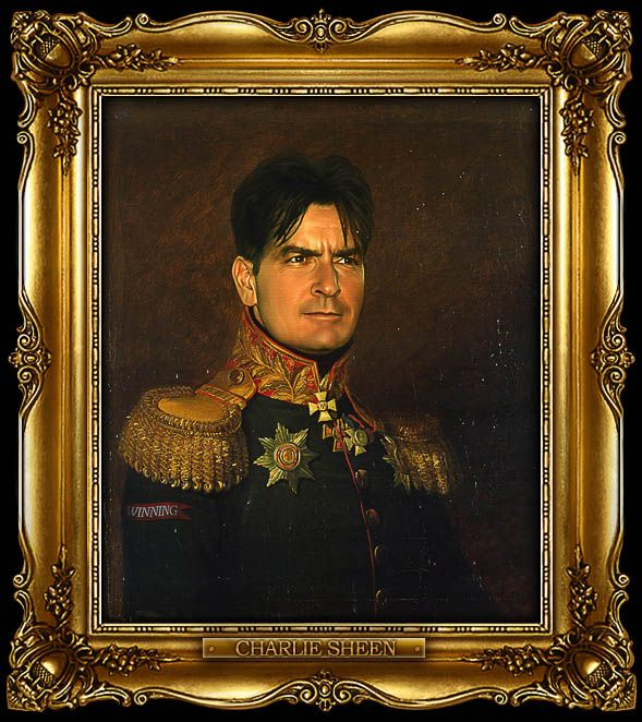 Charlie Sheen as Russian General by Steve Payne (2011)