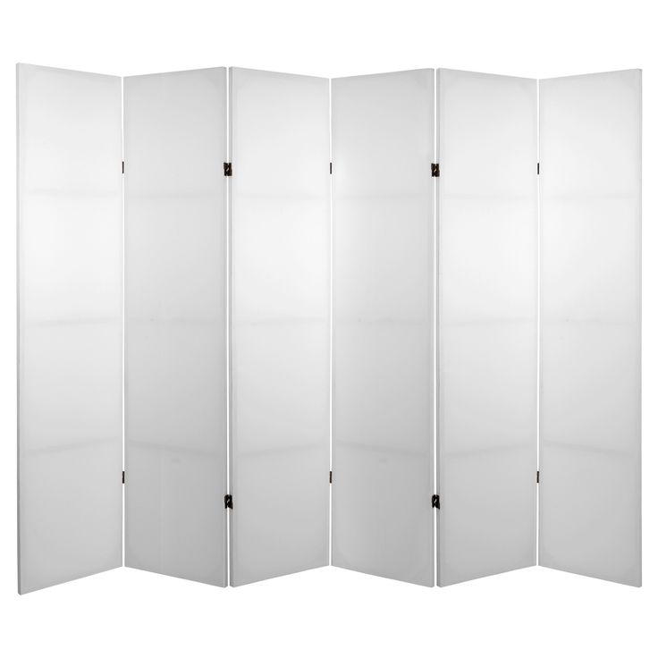 6 ft. Tall Diy Canvas Room Divider 6 Panel - Oriental Furniture, White