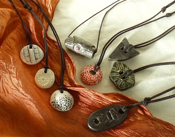 Pendants by Evelin Richter, Studio #13 on the WAVE tour.
