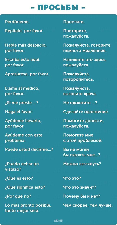 Фразы поздравления на испанском