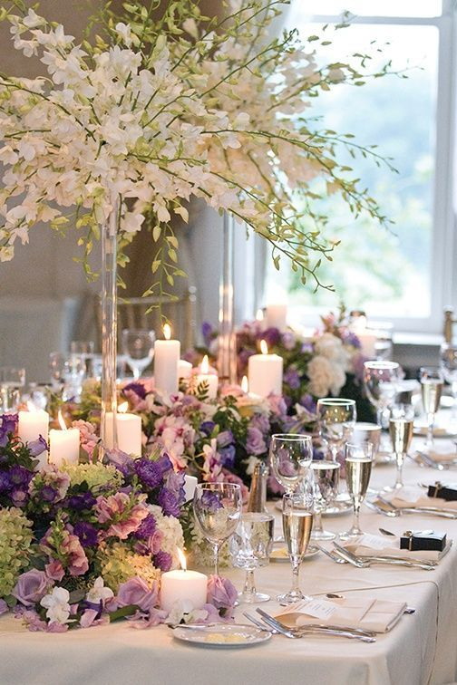 Fantastic proportions. The height of the flowers gracefully balances everything out #tablescape #floral