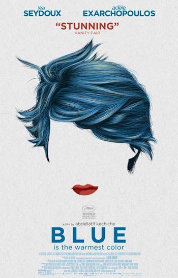 BLUE is the warmest color. Posters y carteles de cine.
