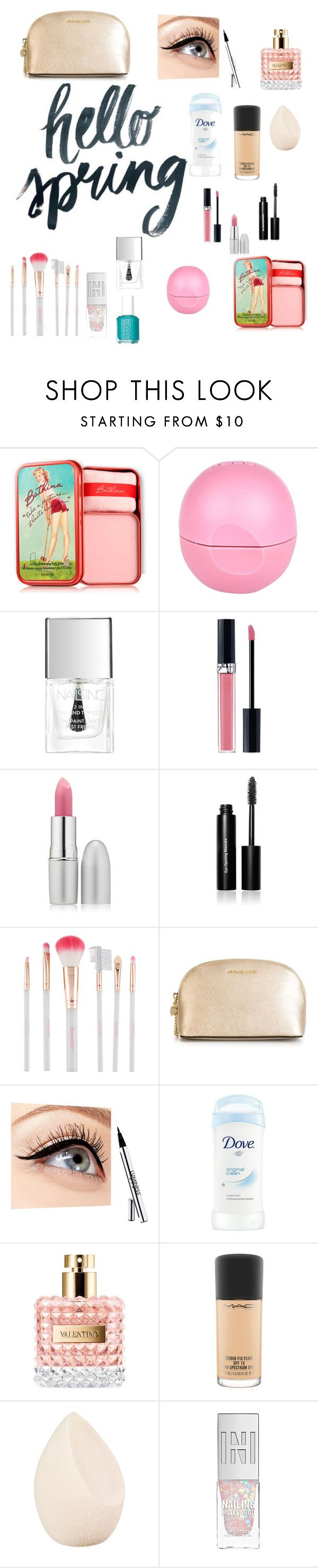 """Untitled #45"" by rayan-2000 ❤ liked on Polyvore featuring beauty, Benefit, River Island, Lipsy, Christian Dior, TheBalm, Bobbi Brown Cosmetics, Accessorize, MICHAEL Michael Kors and Luminess Air"