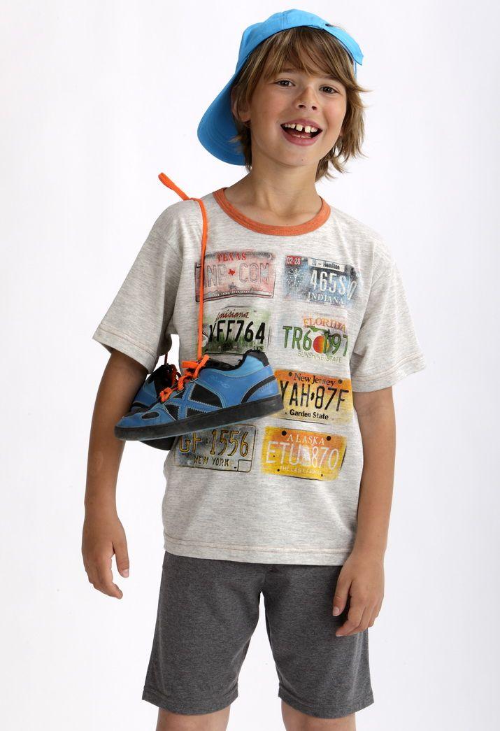 Pijama niño pantalón corto liso.  #massana #pijama #boy