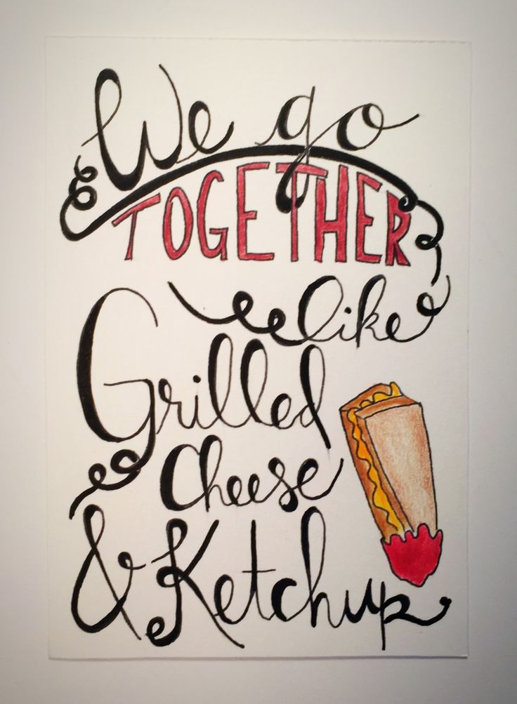 We Go Together Like Grilled Cheese and Ketchup - pen and ink, art pencil, framed grilled cheese art, funny grilled cheese, funny gift by CLAIREandJAMESdesign on Etsy