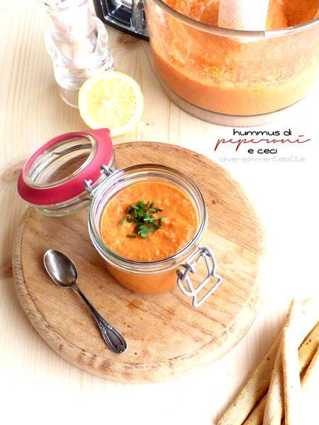 Hummus di peperoni e ceci - Cucina Semplicemente