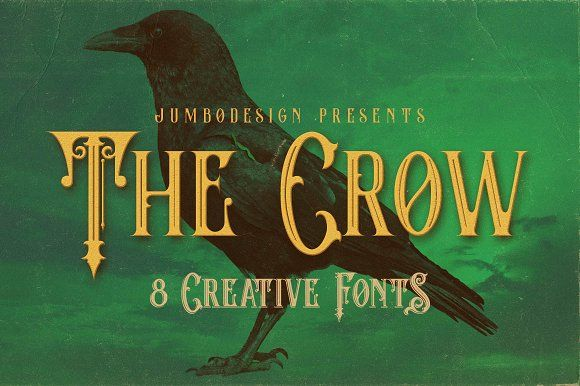 The Crow - Vintage Style Font by JumboDesign on @creativemarket