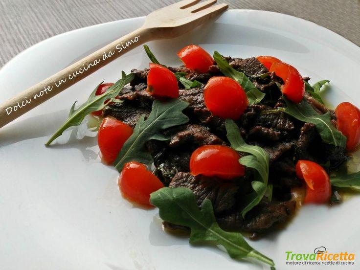 Straccetti di manzo con rucola  #ricette #food #recipes
