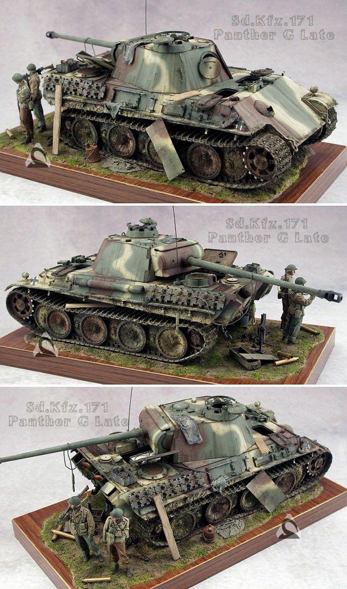 """World War II German """"Black Panther"""" medium tank type G [35 ratio]"""