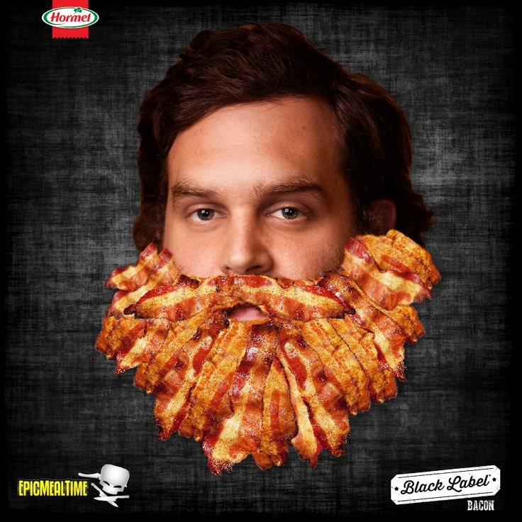 Our bacon is as epic as Harley's beard.
