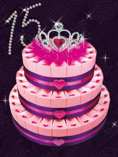 12 best do it yourself party favor ideas images on pinterest whether youre planning a sweet 16 party or quinceanera this do it yourself three tier sweetheart favor cake kit is fit for a princess solutioingenieria Image collections