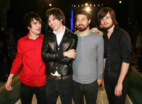 Ryan Ross Photos Photos - Members of the band Panic! at the Disco (L-R) frontman Brendon Urie, guitarist Ryan Ross, bassist Jon Walker and drummer Spencer Smith, pose at a housewarming party for Sacramento Kings co-owner Gavin Maloof October 25, 2007 in Las Vegas, Nevada. (Photo by Ethan Miller/Getty Images) * Local Caption * Brendon Urie;Ryan Ross;Jon Walker;Spencer Smith - Gavin Maloof's Exclusive Housewarming Party