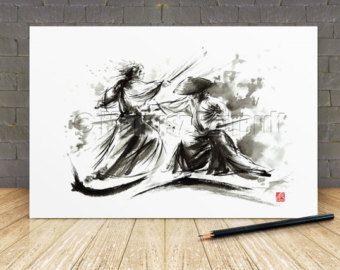 Samurai sword japanese art ninja warrior japanese by SamuraiArt