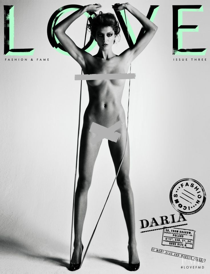 Cover of LOVE with Daria Werbowy, February 2010 (ID:42086)| Magazines | The FMD #lovefmd