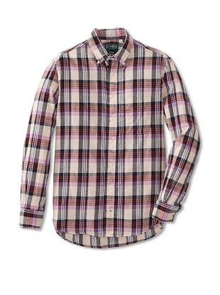 70% OFF Gitman Vintage Men's Madras Button Down Shirt (Pink)