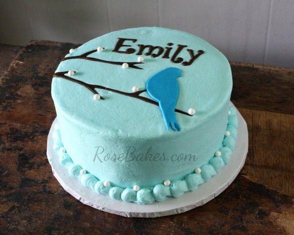 Blue Bird Cake   Easy Chocolate Chip Cake Recipe | http://rosebakes.com/blue-bird-cake-easy-chocolate-chip-cake-recipe/