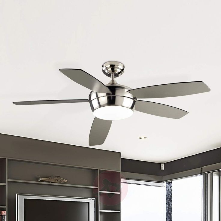 Marvelous Great choice for the modern home This ceiling fan with nickel look Deckenventilator Mit FernbedienungDeckenventilatorenDeckenModerne