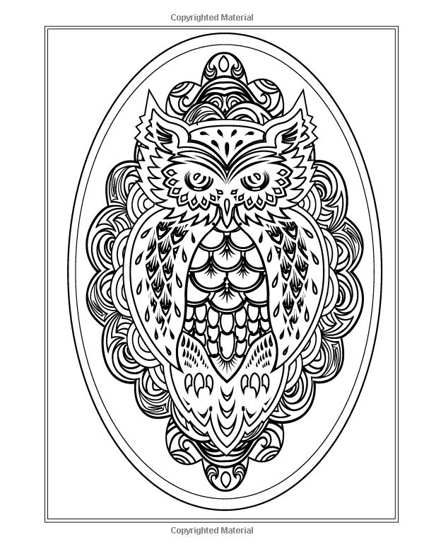 92 Coloring Pages For Adults Abstract Owls