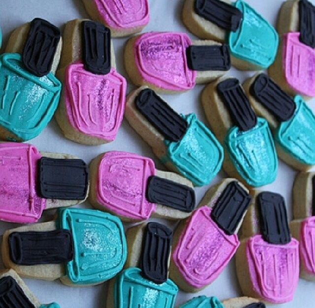 Nail Polish Cookies Party Ideas Sleepover Spa Cute Pinterest And