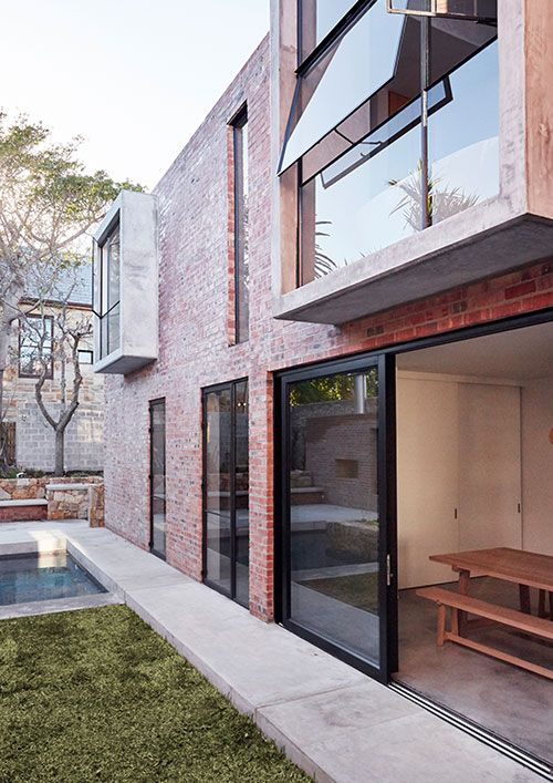 Brick and concrete house by Beattyvermeiren architects, South Africa, exterior
