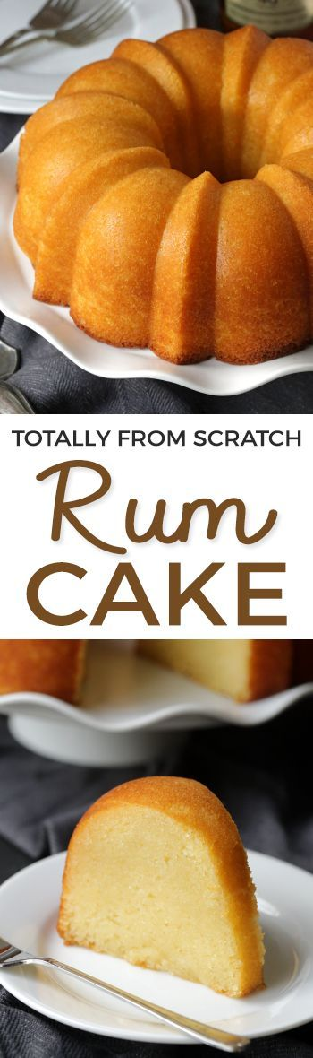This rum cake is made completely from scratch – there's no pudding or cake mix involved and it's even more delicious than the cake mix version! Can be made with all-purpose flour or with whole wheat pastry flour for a whole grain versio