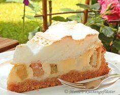 Manus Küchengeflüster: Rhabarberkuchen mit Schmandguß und Baiser Gemaakt in 2013 Heerlijke taart