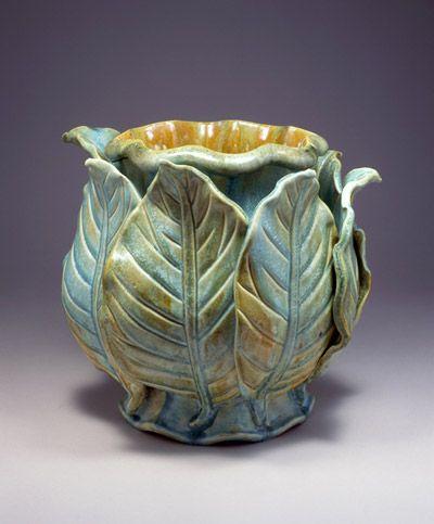 kate malone - beautiful leaf vase
