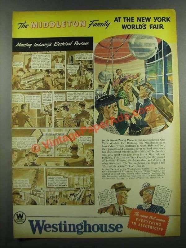 1939 Westinghouse Electric Ad - New York World's Fair