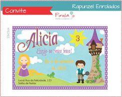 Convite Enrolados Rapunzel http://www.elo7.com.br/convite-digital-frozen/dp/43681F