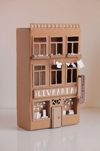 Cardboard bookshop