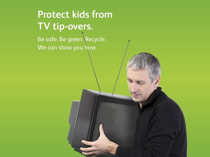Did you know that recycling old TVs can help prevent TV tip-overs? Learn how to make TV safety part of your childproofing plan.