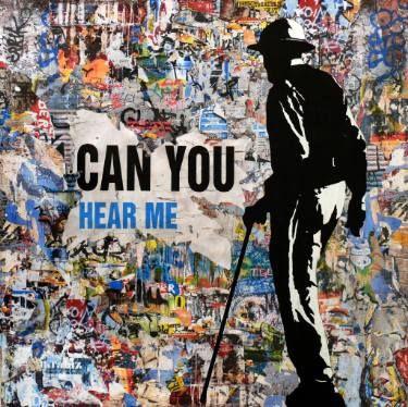 "Saatchi Art Artist Tehos Frederic CAMILLERI; Painting, ""Can you Hear me - Tehos"" #art"