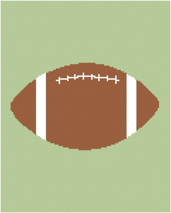 Crochet Patterns Football Afghan Graph : FOOTBALL Graph Chart Pattern Afghan DOWNLOAD by ...