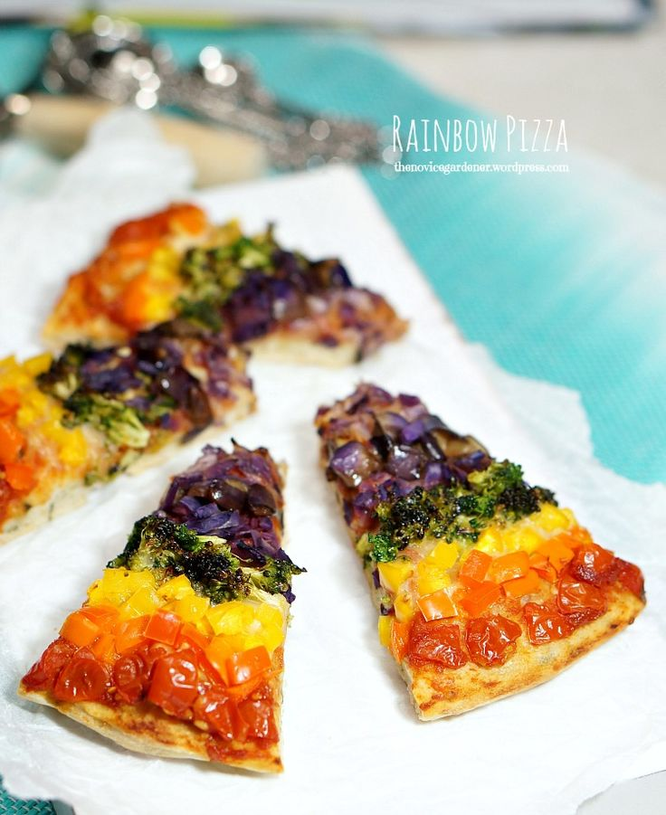 Rainbow pizza (vegetarian) loaded with nutritious and delicious vegetables AND kale in the crust! And kids love it! My baby girl showed me a picture of a rainbow pizza she found on Tumblr, a while ago. She asked me to make her one. But I was really dragging my feet about it, not wanting to … … Continue reading →