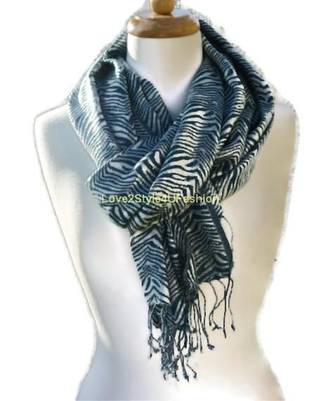 Blue Green Infinity Scarf Circle Fashion by Love2Style4UFashion