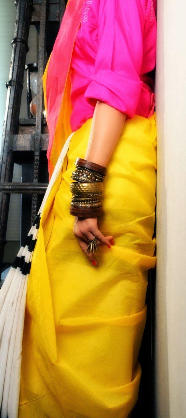 the boho #sari #stylingsari #howtowearasari