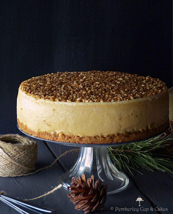 Cheesecake de turrón de Jijona http://www.pecadosdereposteria.com/cheesecake-de-turron-de-jijona/