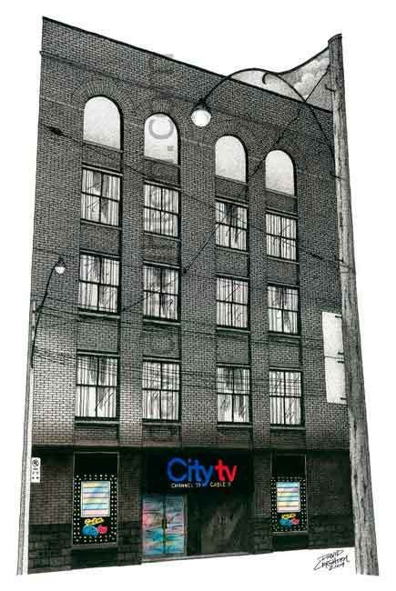 It's #FashionWeek and this is where #Fashion TV with @Jeane_Beker started @CityTV Building #1,Toronto, Canada by Artist Illustrator David Crighton Art