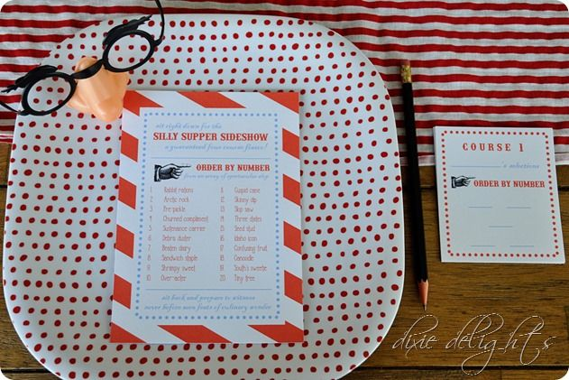 April Fool's Silly Supper Sideshow {Free Printables}